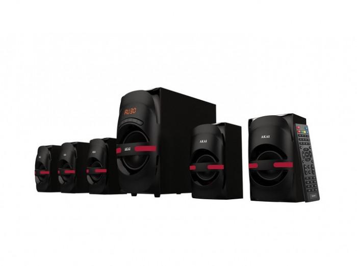 Sistem boxe active 5.1 Akai HT014A-5086F Bluetooth 105W USB/SD Negru