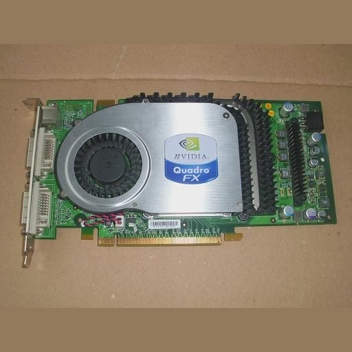 Placa video PC second hand NVidia Quadro FX3400 Dual DVI TV-O 256MB 256Bit