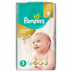 Scutece Pampers Premium Care 3 Midi Value Pack, 5-9 kg, 60 buc/pachet