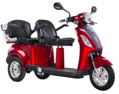 Tricicleta, scuter electric ideala pentru agrement si plimbari in statiuni ZT-18 TRILUX ROSU foto