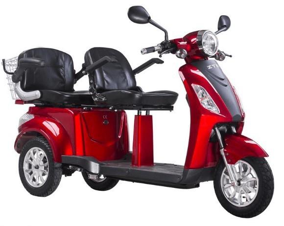 Tricicleta, scuter electric ideala pentru agrement si plimbari in statiuni ZT-18 TRILUX ROSU