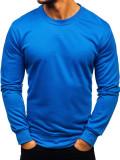 Hanorac fără glugă bărbați albastru Bolf 22003
