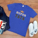 """Cumpara ieftin Tricou personalizat """"Super tata"""" (Marime: XXL, Marime imprimeu: A3 + 10 lei,..."""