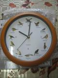 Ceas de perete EASYmaxx cu păsări - 12  cântece - 25 cm