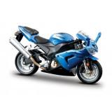 Motocicleta Kawasaki Ninja ZX-10R BBURAGO Scara 1:18 Albastru