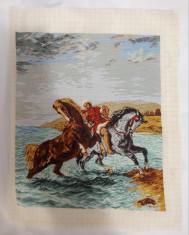"Goblen ""Marocanul sco?and caii din mare"" dupa E. Delacrois foto"