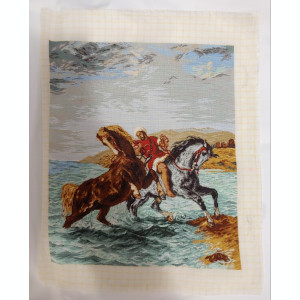 Goblen Marocanul scoțând caii din mare dupa E. Delacrois