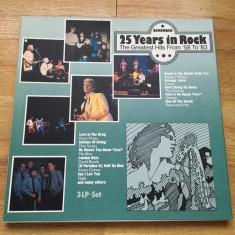 VARIOUS ARTISTS - 25 YEARS IN ROCK '58-'83 (3LP,3 Viniluri,1984,VICTORIA,SPAIN)