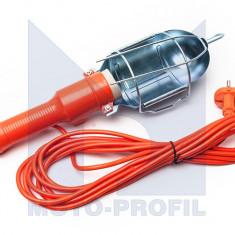 Lampa de lucru cu bec 230V cu cablu de 5m si intrerupator ON/OFF Kft Auto