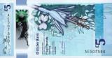 IRLANDA DE NORD █ bancnota █ 5 Pounds █ 2018 █ ULSTER BANK █ POLYMER █ UNC █
