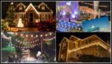 Ghirlande Luminoase de Exterior, Craciun, Evenimente, Orice Marime, Pe Comanda, Manopera Gratuita