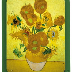 Tava de metal - Vincent Van Gogh - Tournesol dans un vase | Cartexpo