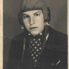 Fotografie portret pilot militar roman IAR 1945 Caransebes