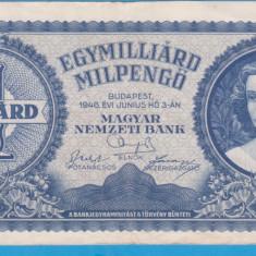 (3) BANCNOTA UNGARIA - 1 MILIARD PENGO 1946 (3 IUNIE 1946)