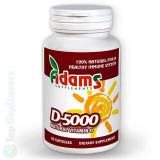 Vitamina D-5000 60cps. (imunitate, oase, muschi, nervi) Adams Supplements