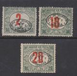 ROMANIA 1919 - DEBRETIN I 3 VALORI PORTO MNH AUTENTIFICARE BODOR, Nestampilat