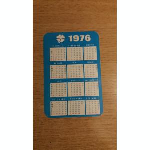 CCO 1976 - CALENDAR DE COLECTIE - TEMATICA RECLAMA - LOTO - ANUL 1976