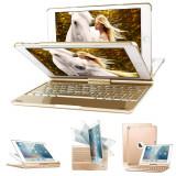 """Cumpara ieftin Husa Tableta cu Tastatura Apple iPad 9.7"""" 6Th Generation 2018 IPad Air 6"""" 2018 ofera protectie Lux Rotire 360 Gold"""