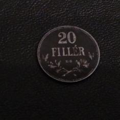 Monedă 20 Filler 1918