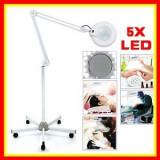 Lampa Lupa Cosmetica Profesionala cu Lumina Rece si Neon Marire x5