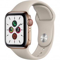 Smartwatch Apple Watch Series 5 GPS Cellular 40mm Gold Stainless Steel Case Stone Sport Band S/M & M/L