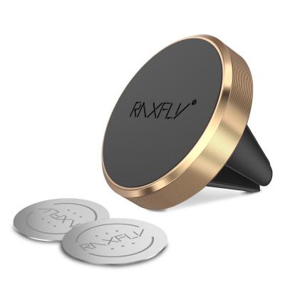 Suport Magnetic Gold pentru Grila Ventilatie, SmartPhone iPhone/Huawei/Xiaomi/Samsung/Sony Auto foto