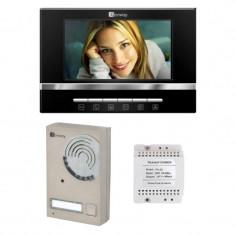 Set interfon video pentru vila Genway, LED IR, full duplex