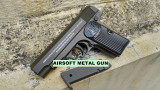 Cumpara ieftin PISTOL FULL METAL BROWNING CALIBRU 6MM,PROPULSIE ARC 400FPS+500 BILE BONUS.NOU!