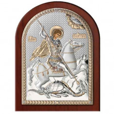 Icoana Argint Sfantul Gheorghe 17.5X22.5 Cm Auriu Cod Produs 2555