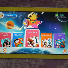 "TABLETA Samsung Galaxy Tab 3 SM-T2105 Kids Yellow - 8GB, 7"" FUNCTIONALA"
