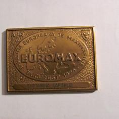 """CY - Placheta """"Expozitia Europeana Maximafilie Bucuresti 1974 / EUROMAX"""""""