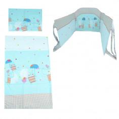 Set lenjerie de pat 3 piese 100 x 135 cm pentru copii NN SLPSB-24, Multicolor