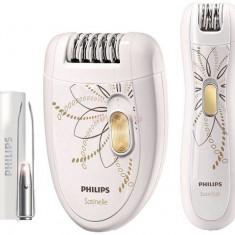 Epilator Philips HP6540/00, 20 pensete, 2 accesorii, 2 viteze