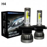 Becuri LED H4 Universale / 6000K / Cu radiator aluminiu / NOU ***