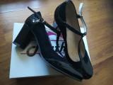 Pantofi cu toc, 39 1/3, Negru