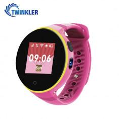 Ceas Smartwatch Pentru Copii Twinkler TKY-S669 cu Functie Telefon, Localizare GPS, Camera, Pedometru, SOS, Rezistent la apa - Roz