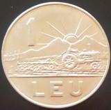 Moneda 1 LEU - RS ROMANIA, anul 1966   *cod 949 --- UNC!