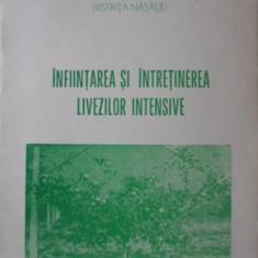 INFIINTAREA SI INTRETINEREA LIVEZILOR INTENSIVE - I. MODORAN, I. DUMITRACHE