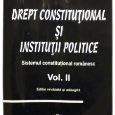 Drept constitutional si institutii politiceSistemul constitutional romanescVolumul II - Cristian Ionescu
