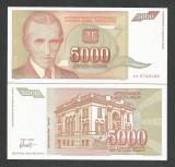 IUGOSLAVIA  5.000  5000  DINARI  DINARA  1993  UNC [1] P - 128 a  ,  necirculata