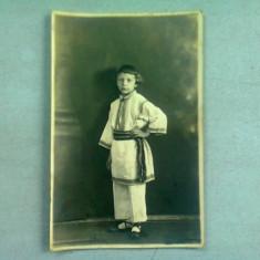 FOTOGRAFIE TIP CARTE POSTALA, BAIAT IN PORT POPULAR, ANII '20