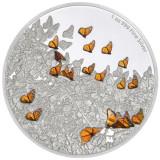 NIUE 2 DOLLARS –Monarch Butterfly, -2016 1 oz./31,1 gr./Ag. 0999/40,00 mm /PROOF, Australia si Oceania
