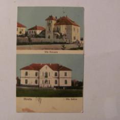 "Ilustrata Movila / Techirghiol / Carmen Sylva / Eforie Sud ""Vila Sabina"" 1927"