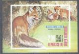 Eq. Guinea 1976 Animals Fox imperf. sheet MNH M.369, Nestampilat