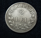 2 lei 1875 argint, detalii de colectie, 5 departat! Vezi si descrierea!