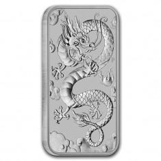 Moneda argint 9999 lingou , Dragon Australia 1 uncie = 31 grame