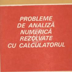 Probleme de analiza numerica rezolvate cu calculatorul