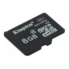 Micro secure digital card kingston 8gb sdc4/8gbsp clasa 4 fara