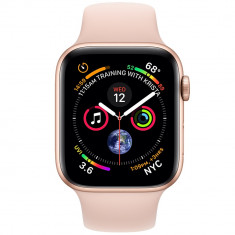 Smartwatch Watch 4 GPS 44MM Aluminiu Auriu Si Curea Sport Roz, Apple