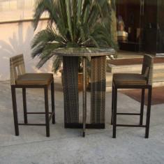 Set - masa cu 2 scaune din ratan